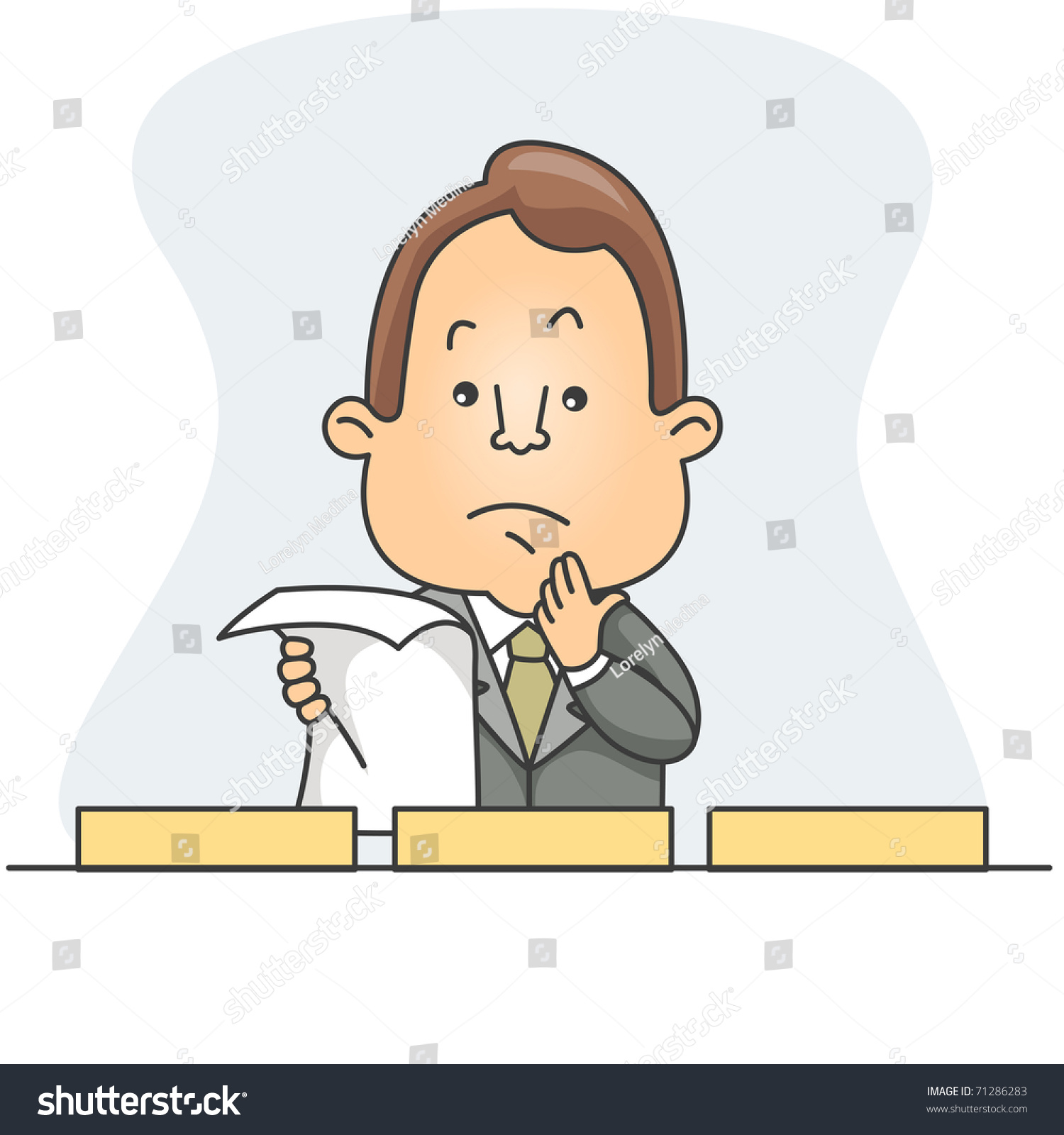 Deciding stock illustrations royalty free gograph - Illustration Of A Man Deciding Which Box To Store The Document