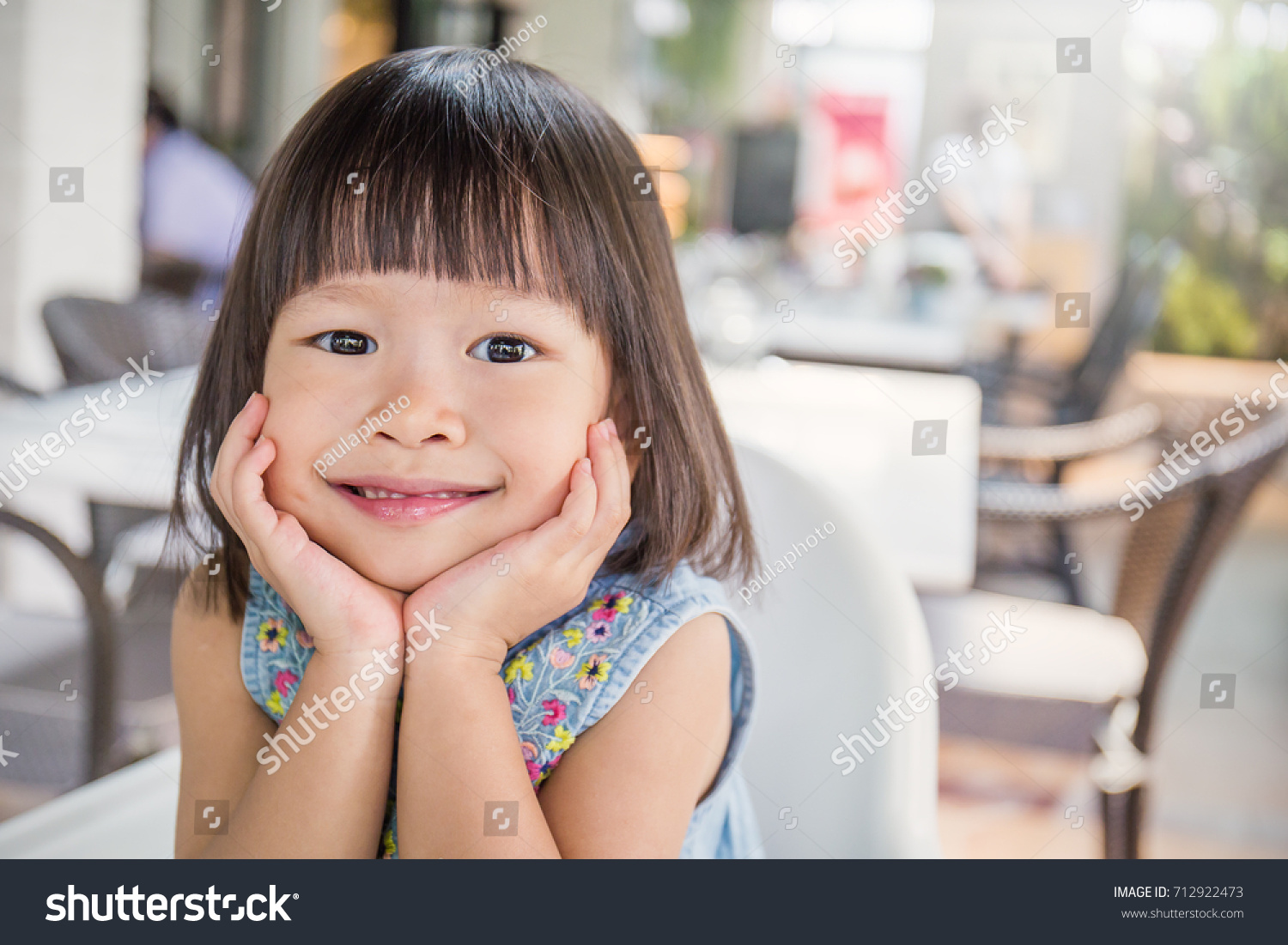 portrait little cute asian girl lovely stock photo (download now