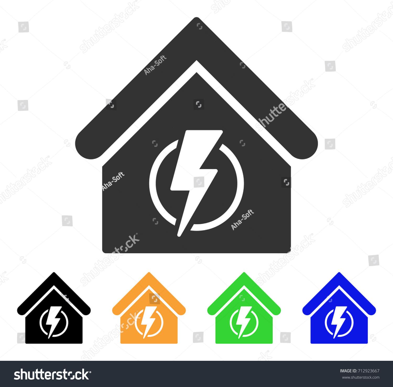 Power Supply Building Icon Vector Illustration Stock Vector Royalty
