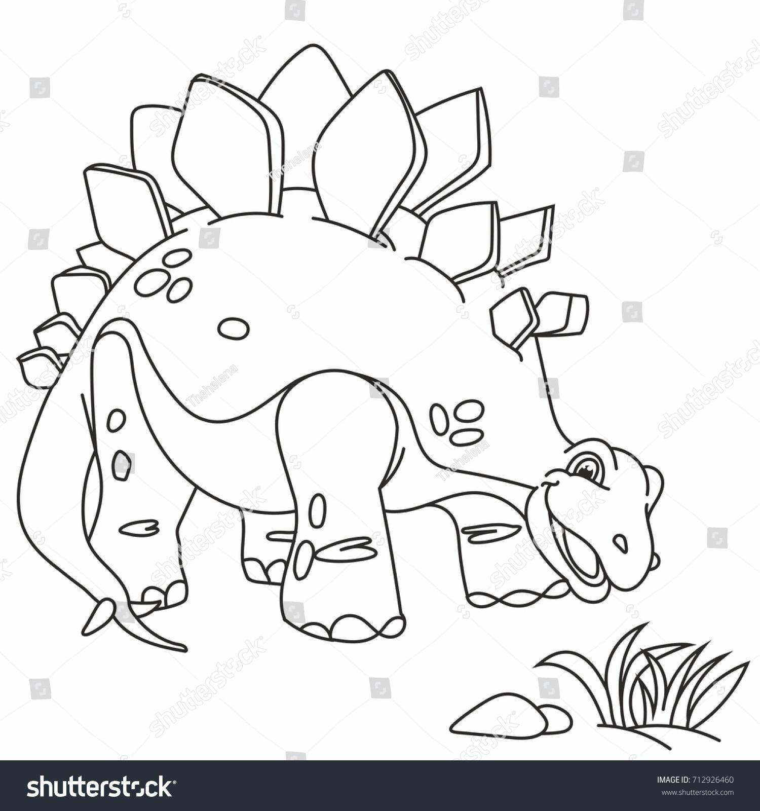 beautiful dinosaur funny little dinosaur kind stock vector