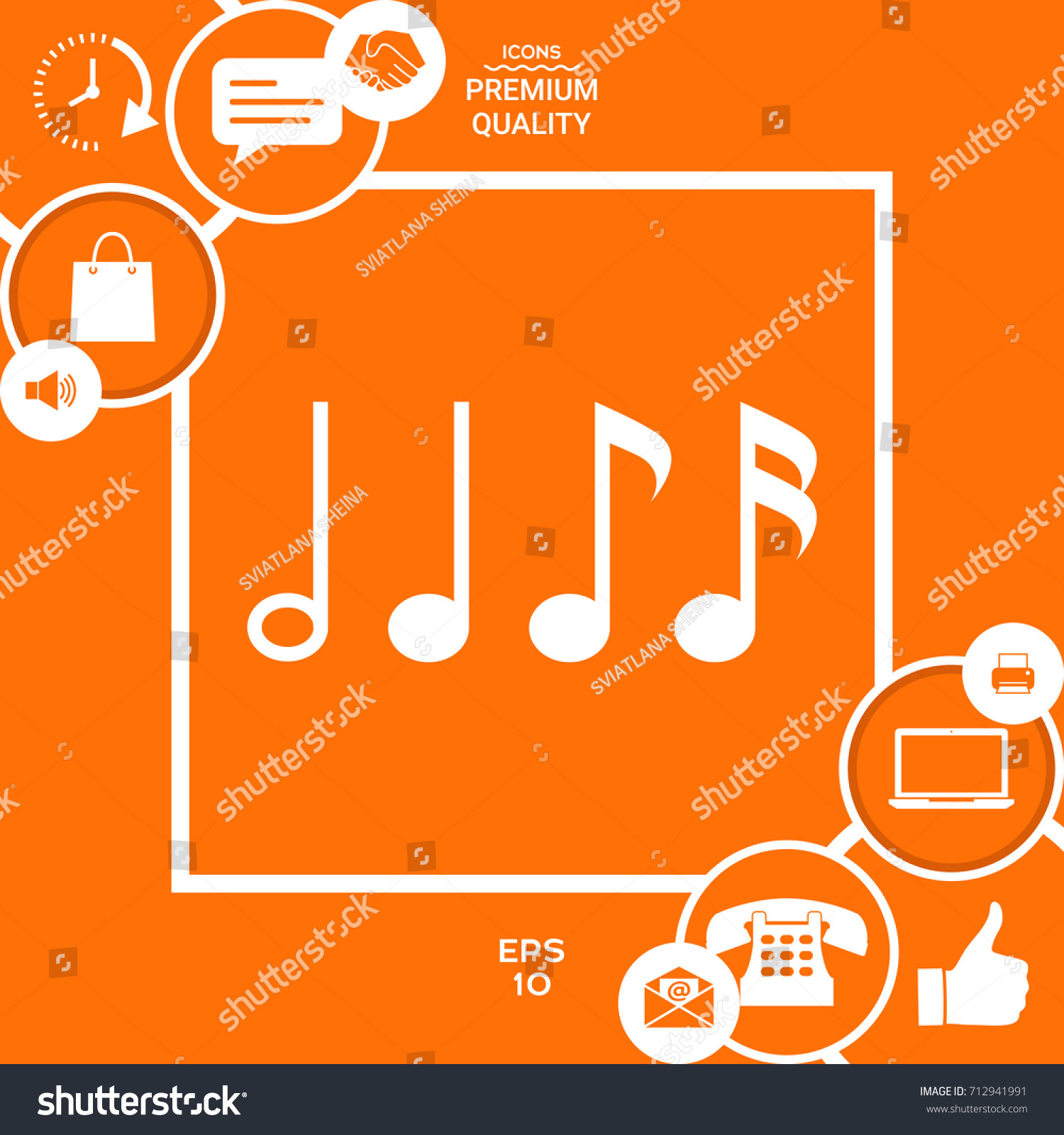 Symbol music notes sixteenth note eighth stock vector 712941991 symbol of music notes sixteenth note eighth note quarter note and half buycottarizona Image collections