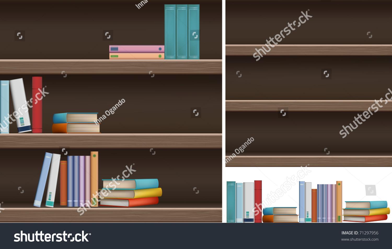 A Set Of Bookshelves And Books Select Bookshelf With Layer Drag