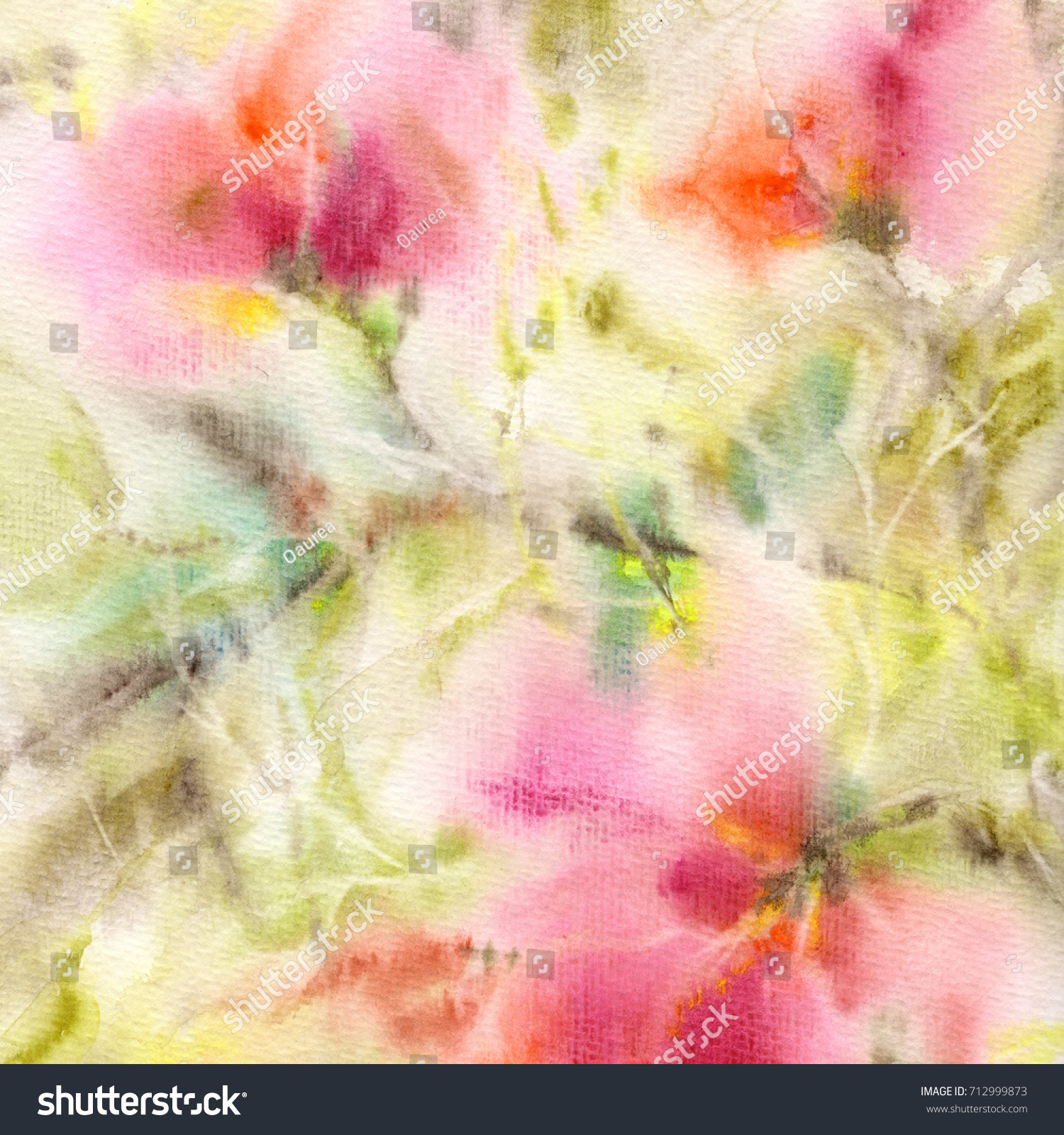 Floral Background Watercolor Floral Background Greeting Stock ...