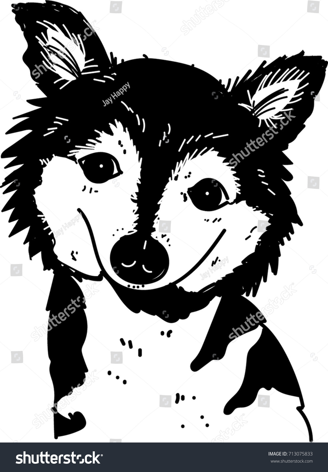 siberian husky cartoon art dog vector stock vector 713075833