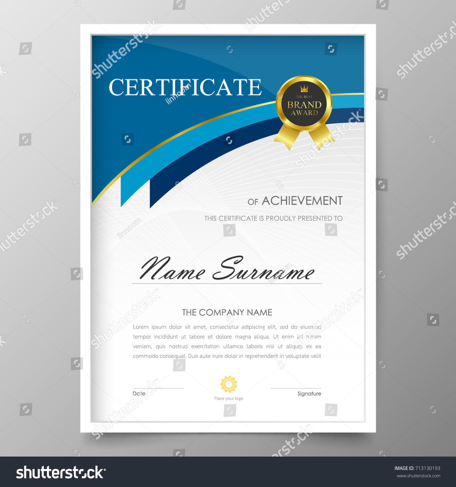 template for awards