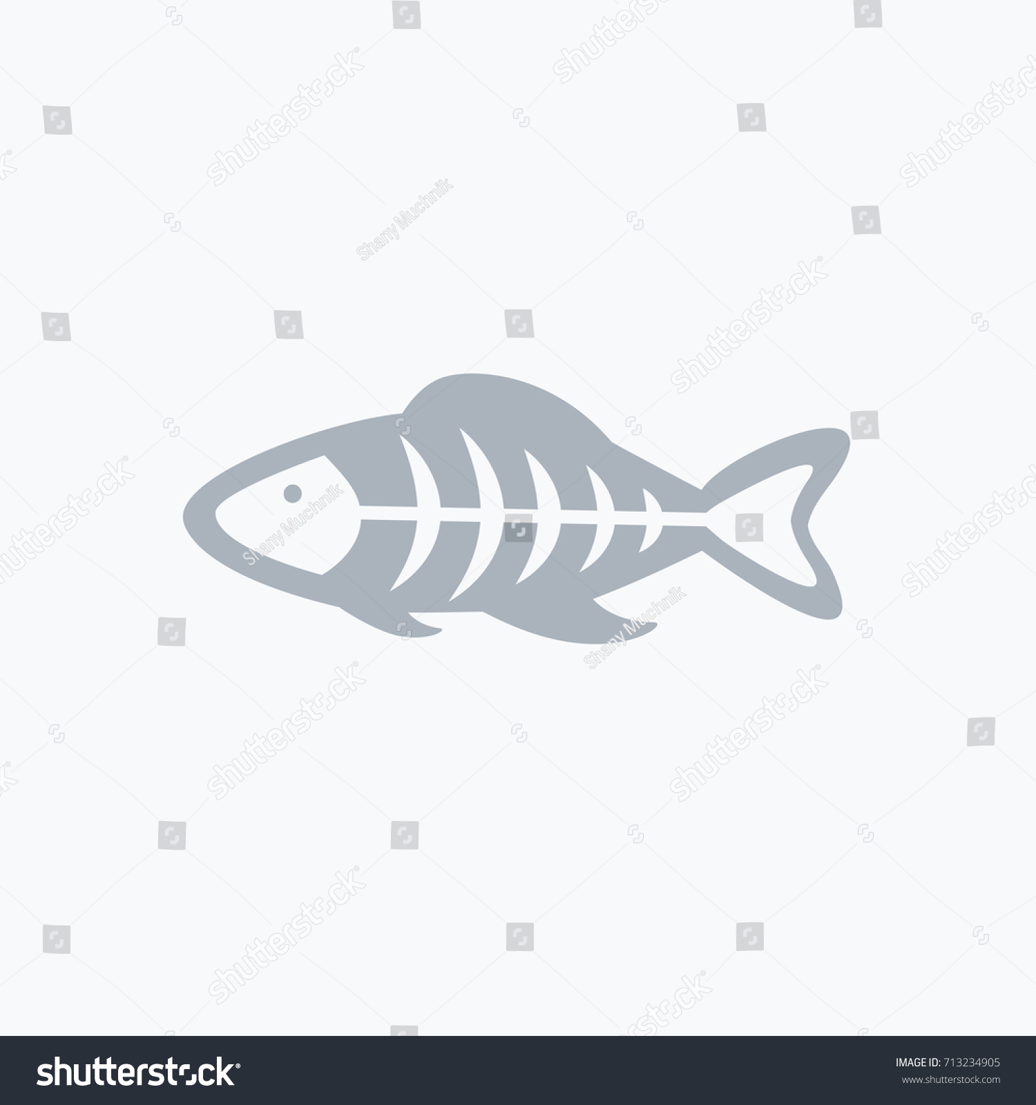 One Simple Clean Whole Fish Organs Stock Vector (Royalty Free ...