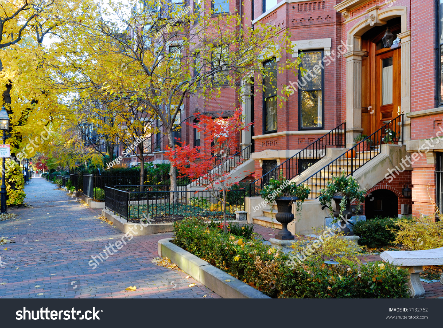 Back Bay Boston Fall Stock Photo 7132762 Shutterstock