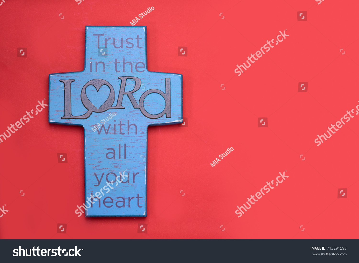 Trust LORD All Your Heart Bible Verses Stock Photo (Edit Now ...