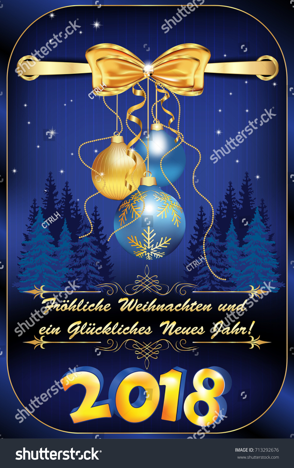 elegant german christmas new year 2018 greeting card merry christmas and happy new year