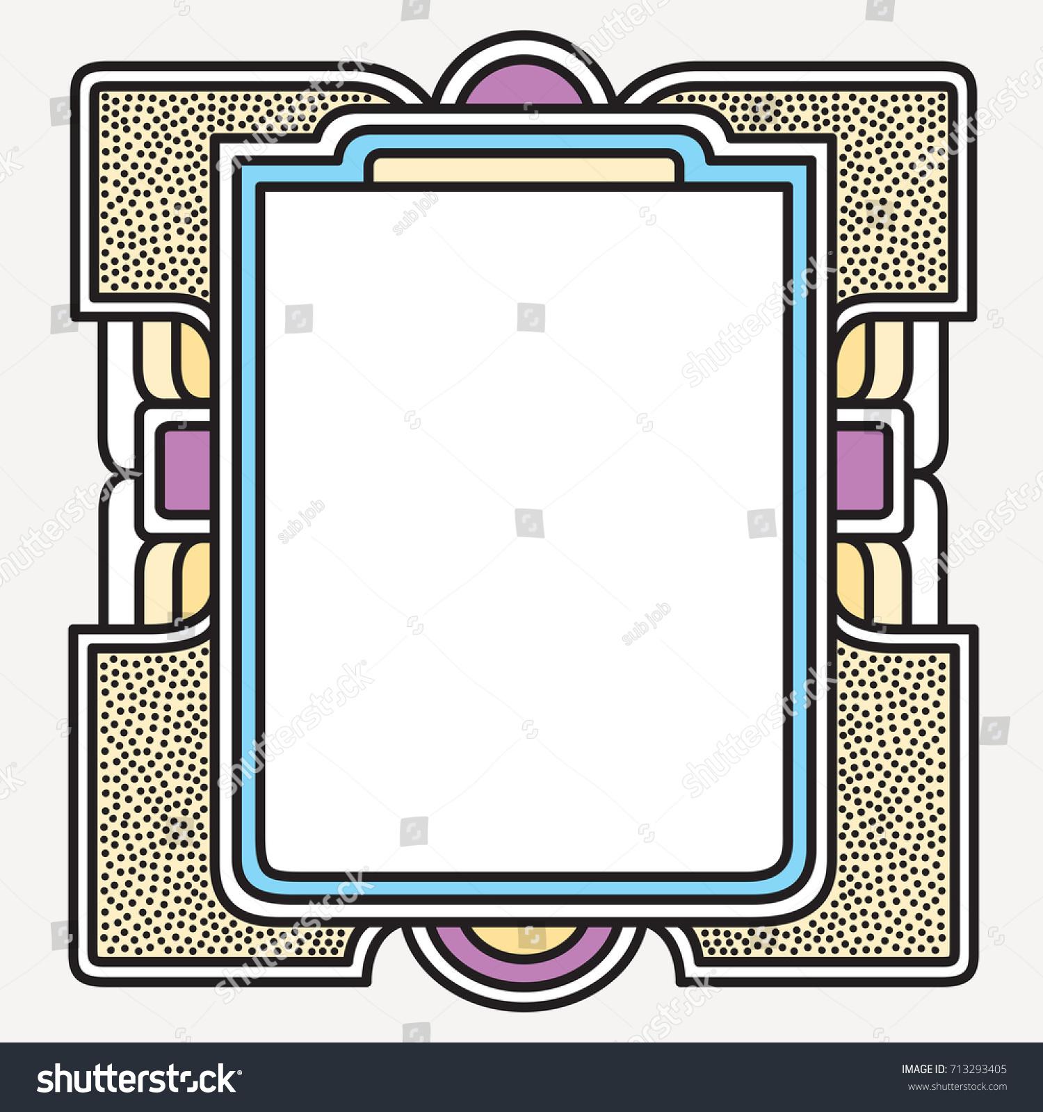 vector frame art graphics dynamic frames stylish geometric white background element for design invitations - Dynamic Frames
