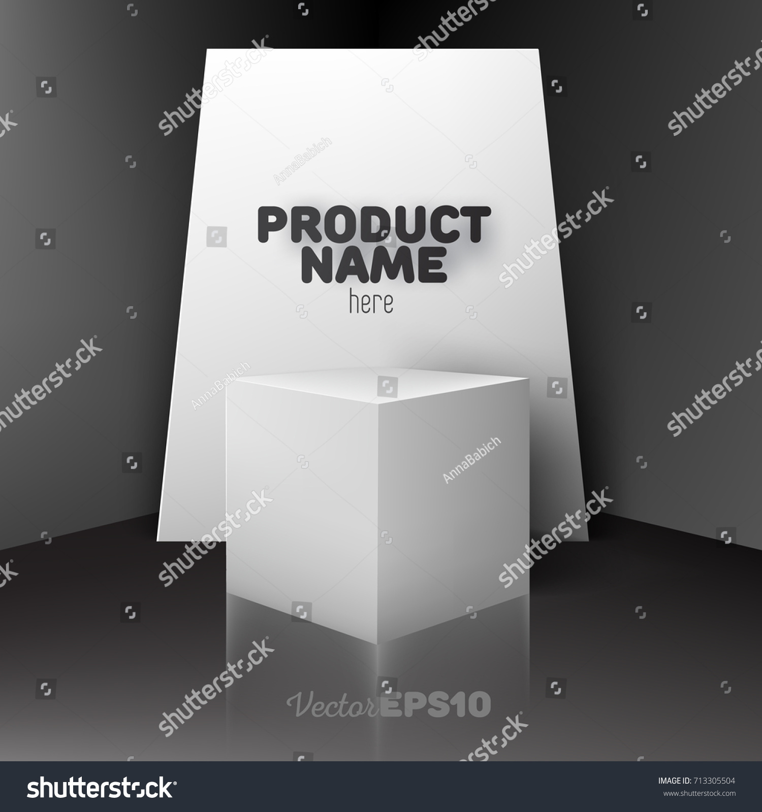Large Empty Poster Billboard Mockup Template Stock Vector (Royalty ...