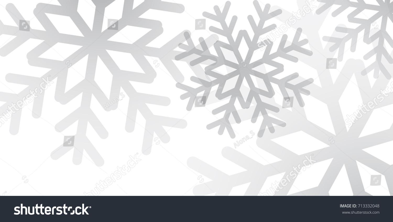 Elegant Christmas Background With Snowflakes Stock Vector: Christmas Winter Background Christmas Snowflakes White