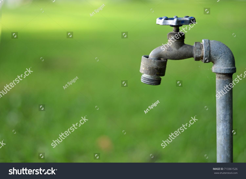 Old Water Faucet Outdoor Steel Stock Photo (Edit Now)- Shutterstock