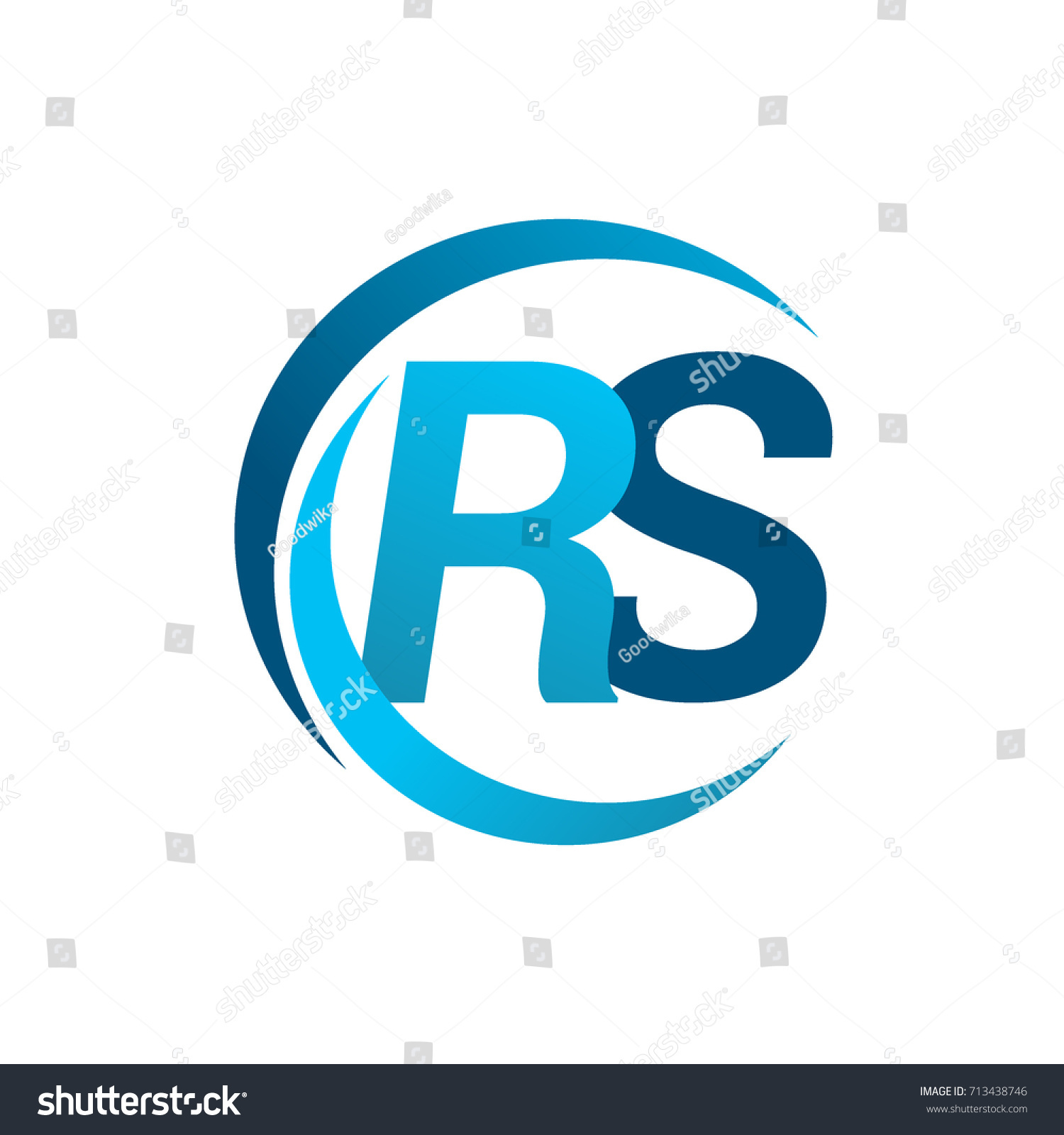 Initial letter rs logotype company name stock vector 713438746 initial letter rs logotype company name blue circle and swoosh design vector logo for business buycottarizona