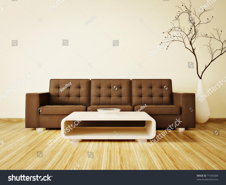 Modern Interior oom Nice Furniture Inside Stock Illustration ... - ^