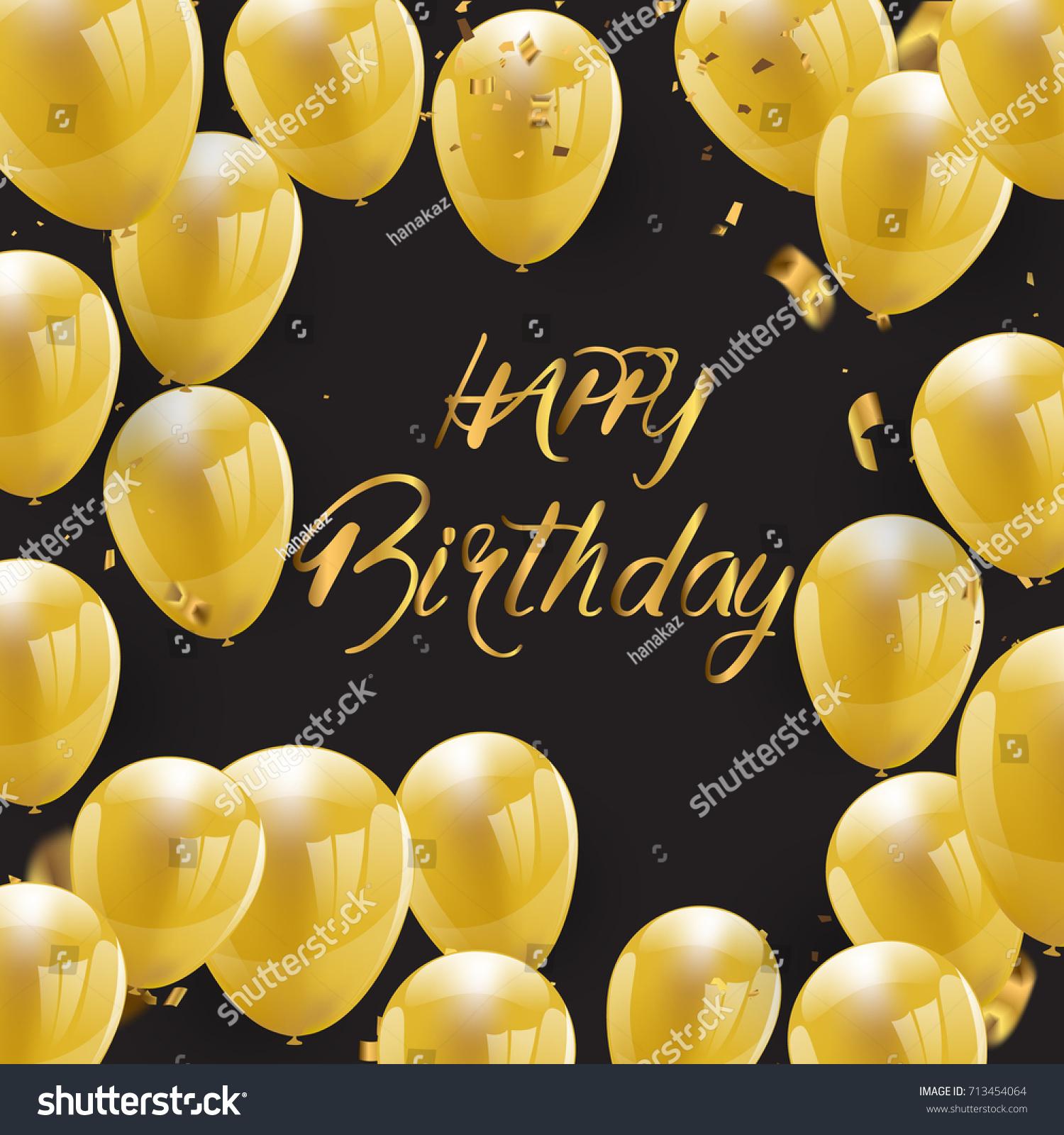 Happy Birthday Greeting Card Version Illustration Stock Vector