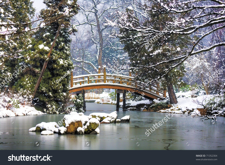 japanese garden winter stock photo 71352304 shutterstock