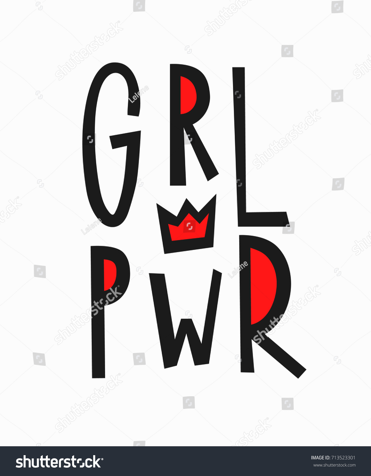 Stock illustration 3d red text quot yes quot stock illustration royalty -  Vectors Illustrations Footage Music Girl Power T Shirt Quote Feminist Lettering Calligraphy Inspiration Graphic Design Typography Element