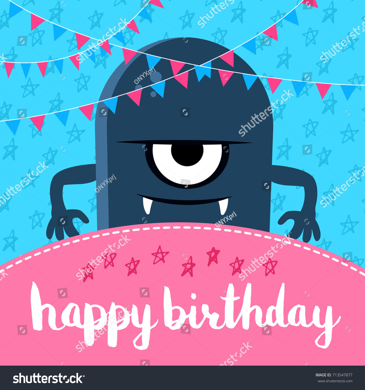 vector happy birthday banner poster illustration stock vector