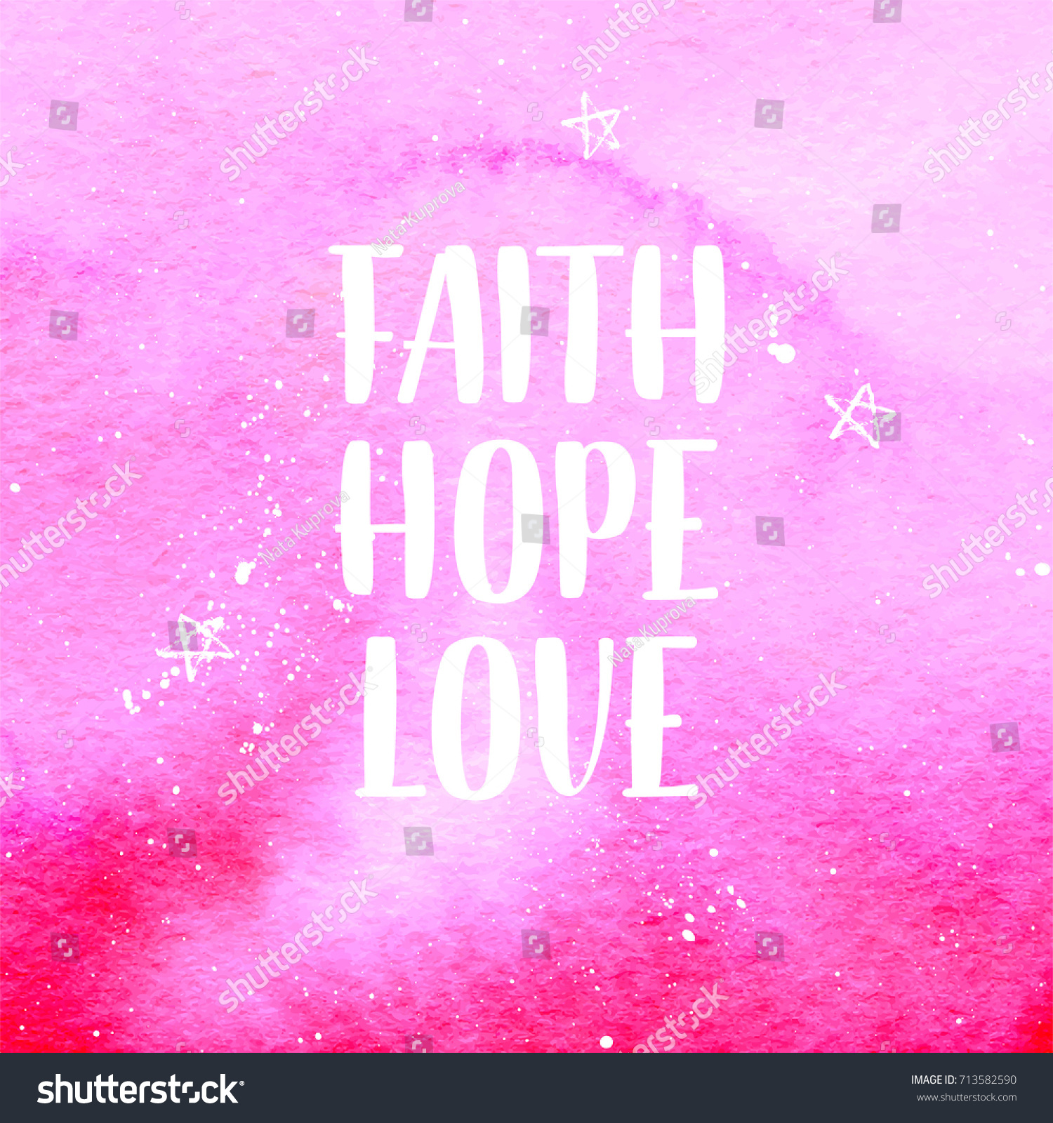 Faith Love Hope Quotes Faith Hope Love Quote On Breast Stock Vector 713582590  Shutterstock