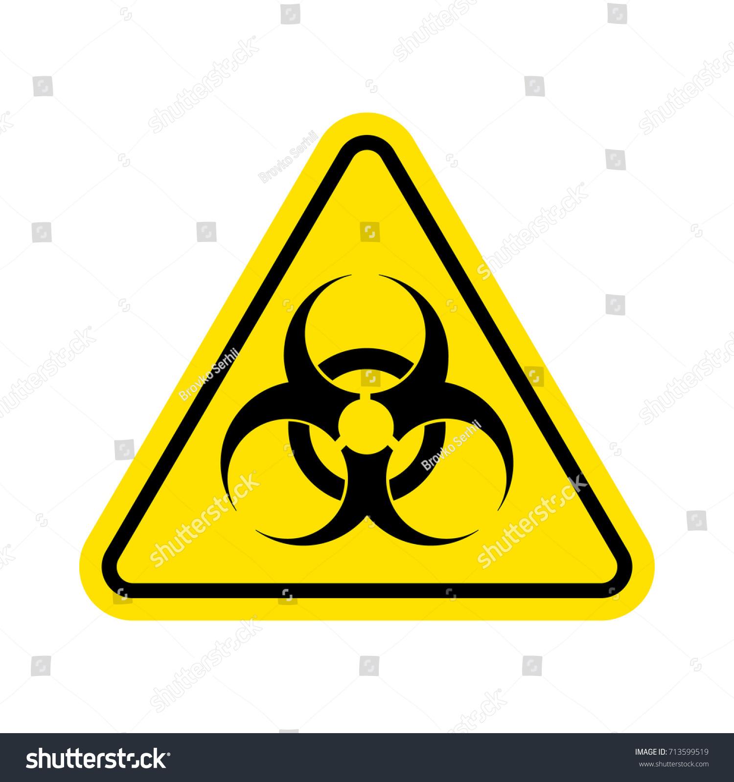 Warning Sign Of Virus Biohazard Icon Biohazard Symbol Isolated On
