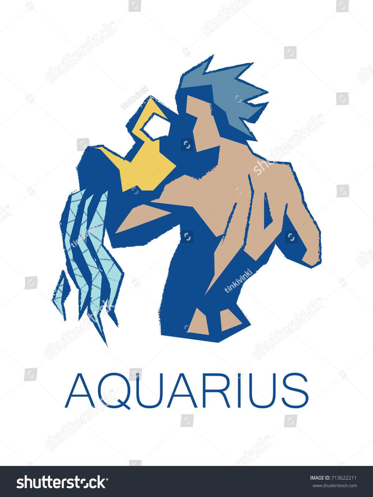 Aquarius Zodiac Sign Astrology Symbol Vector Stock Vector Royalty