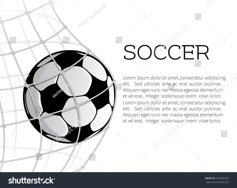 Soccer ball net football gate on stock vector 713635357 shutterstock soccer ball in the net of football gate on white background goal ball symbol for buycottarizona