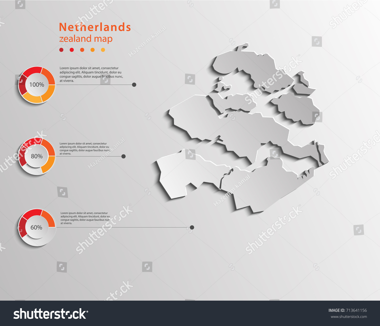 Zealand Zeeland Map Netherlands Provinces Map Stock Vector 713641156