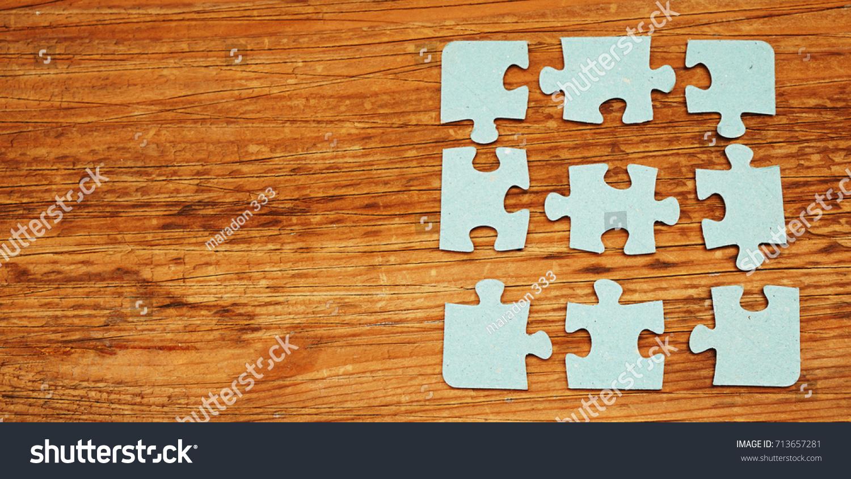 Business Connection Concept Close Puzzle Pieces Stock Photo Edit
