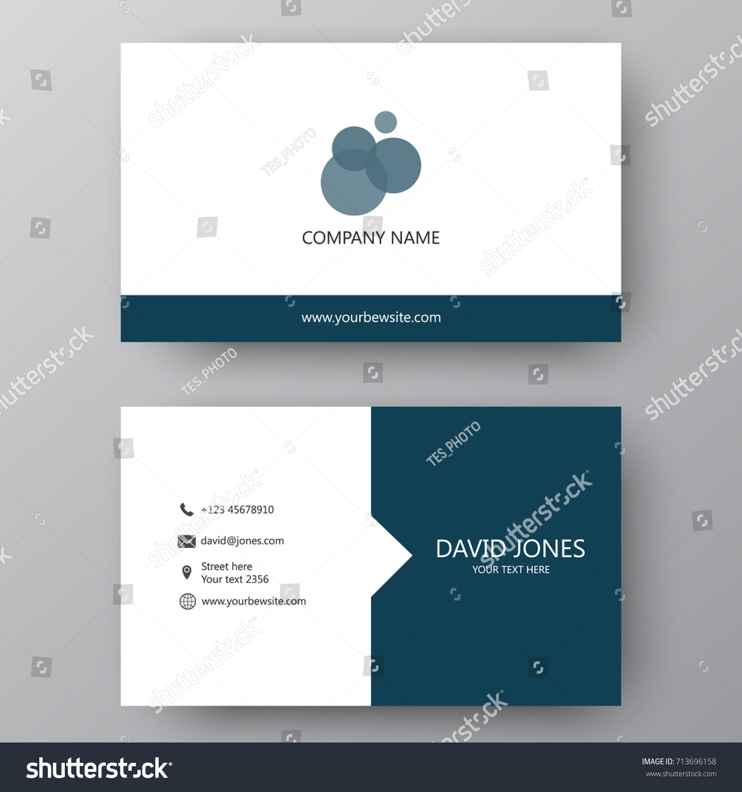 Vector business card template visiting card stock vector 713696158 vector business card template visiting card for business and personal use modern presentation card magicingreecefo Choice Image