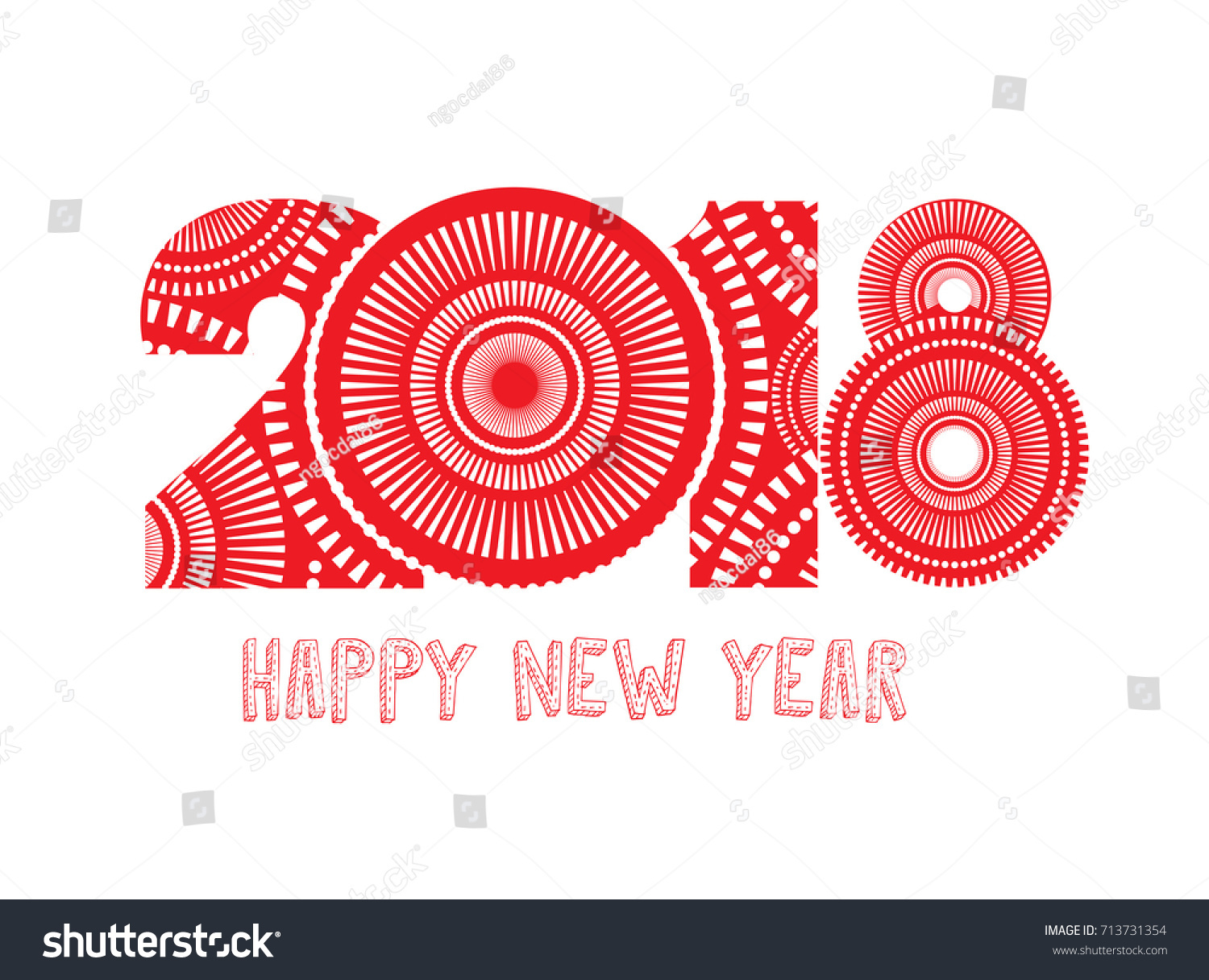 vector illustration of fireworks happy new year 2018 theme