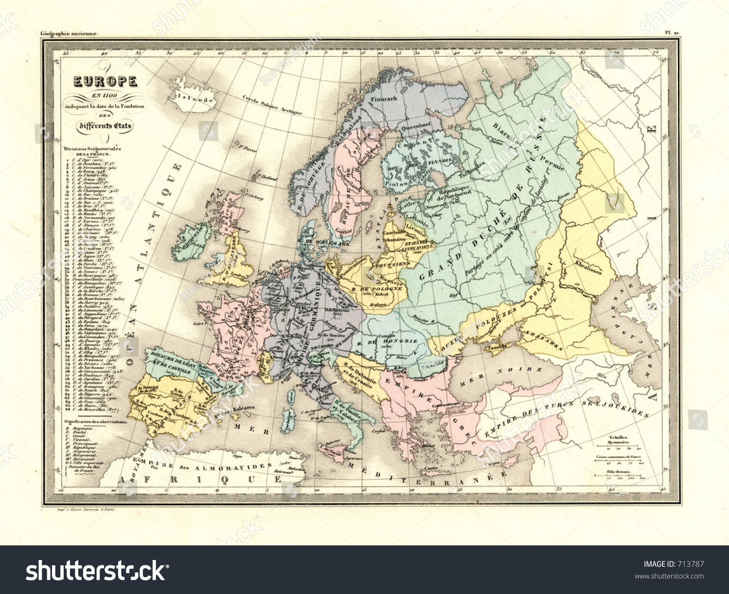 Map Of Europe 1100 Ad.Royalty Free Stock Illustration Of Antique Map Europe 1100 Ad Stock
