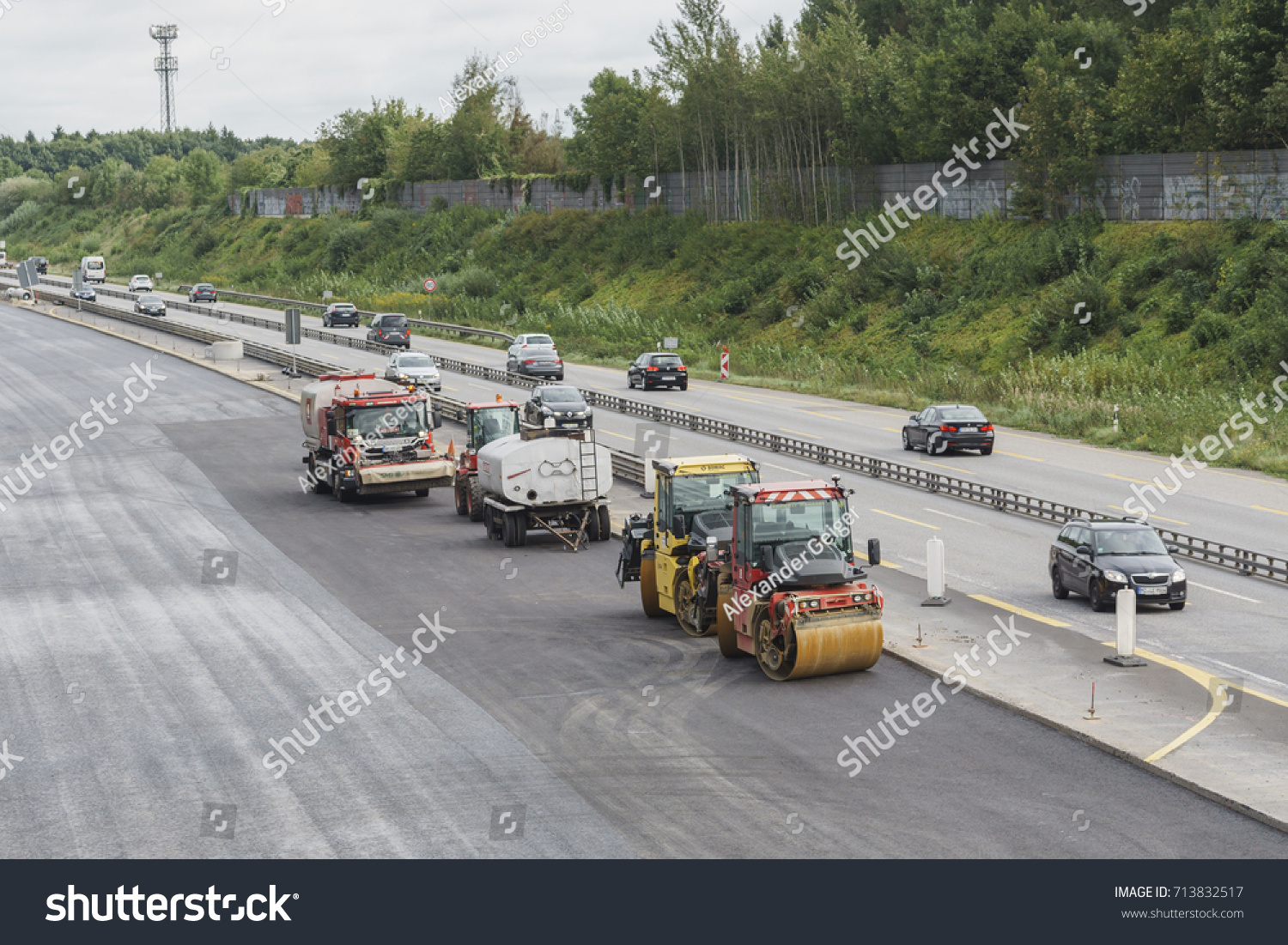 Quickborn Germany September Highway Road Stock Photo - Quickborn germany map