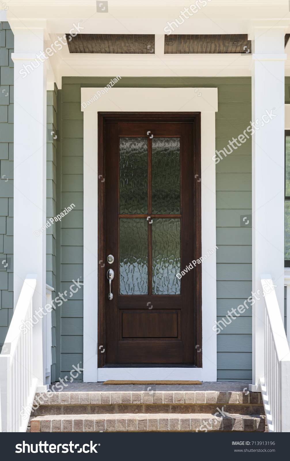 Front Door Frosted Glass Stock Photo Edit Now 713913196 Shutterstock