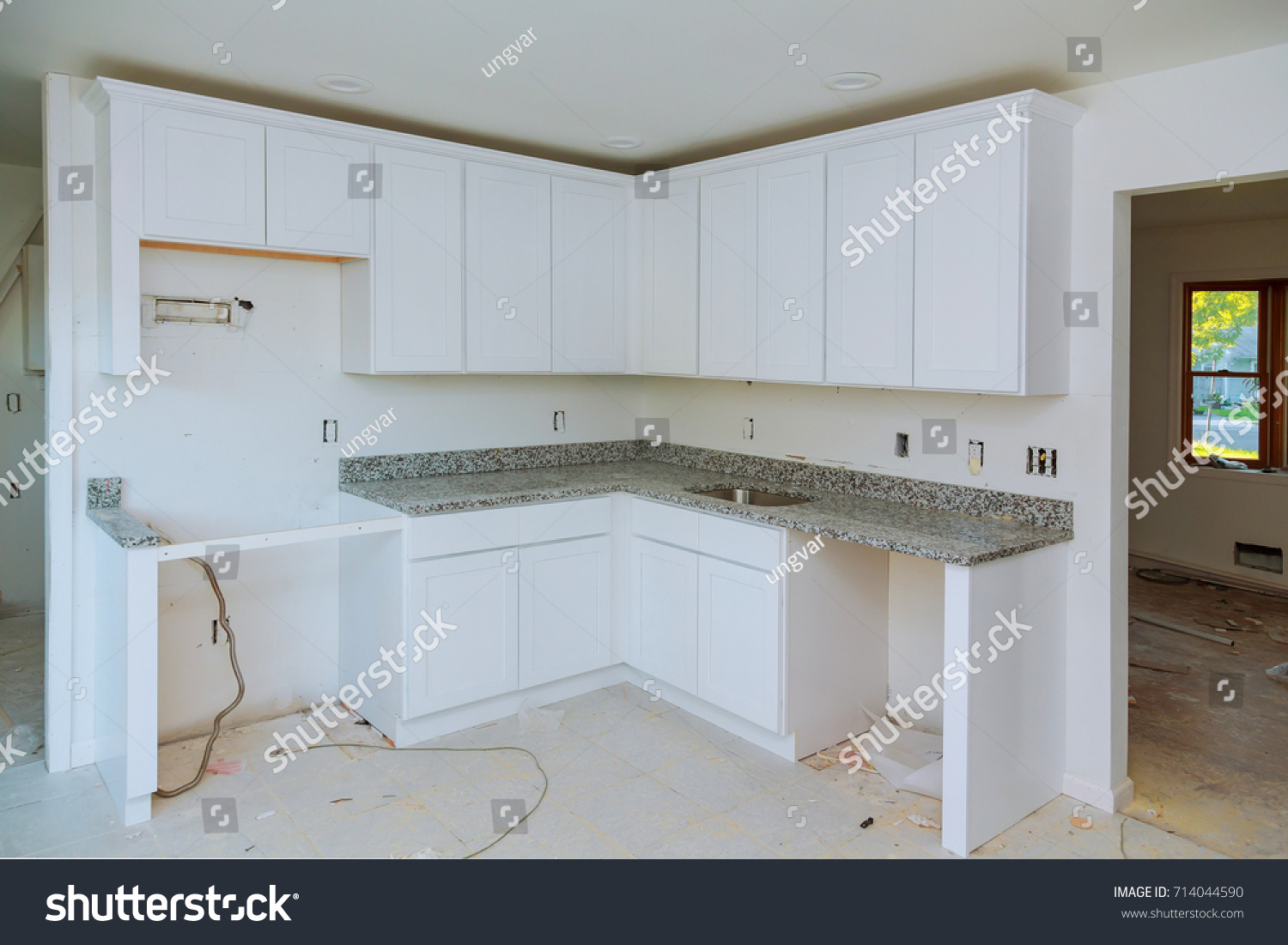 Installing New Induction Hob Modern Kitchen Stock Photo (Royalty ...