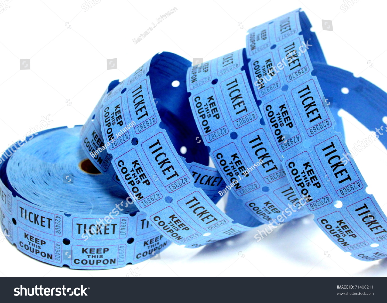 blue raffle tickets stock photo shutterstock blue raffle tickets