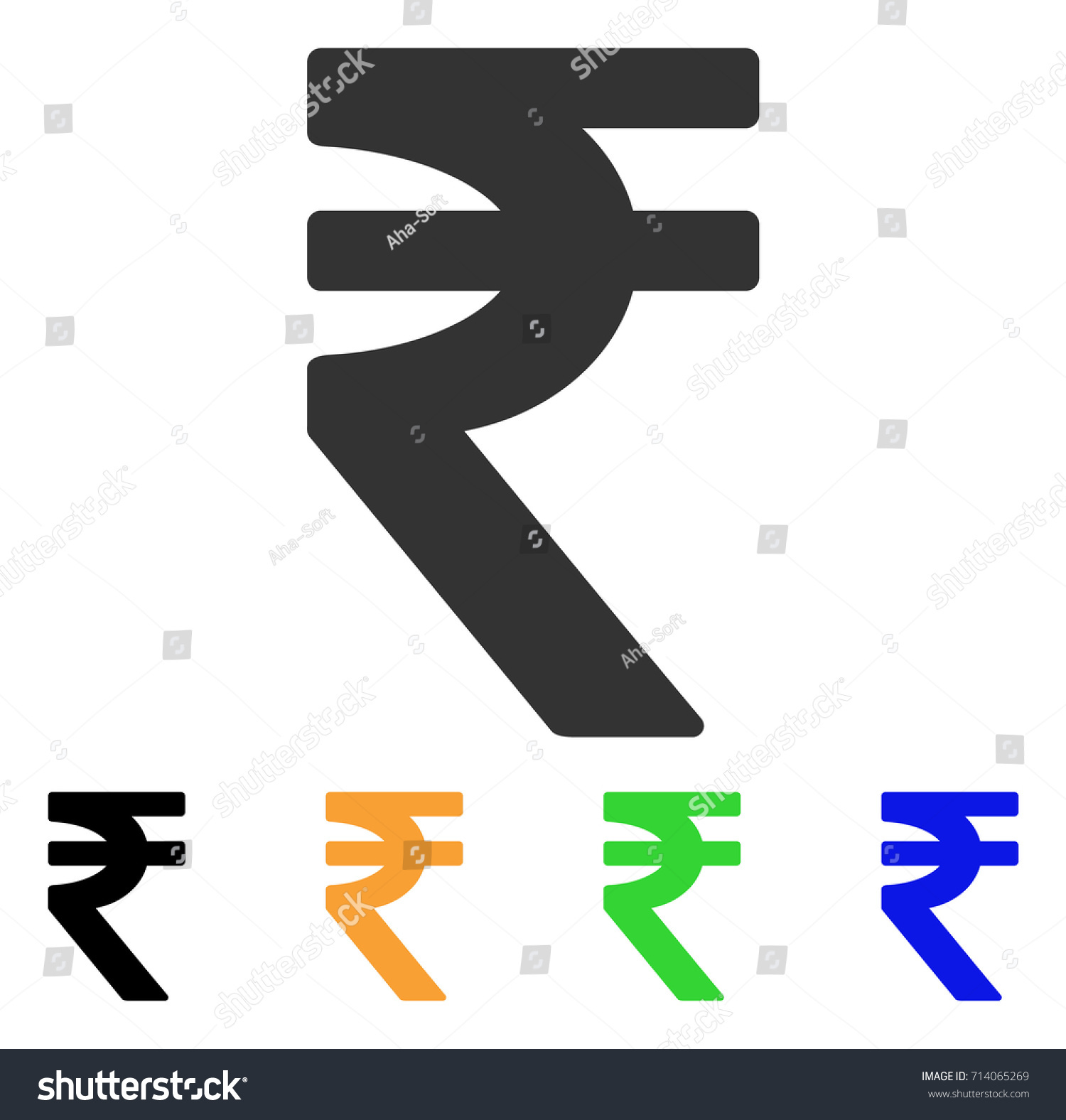 Indian Rupee Icon Vector Illustration Style Stock Vector Royalty