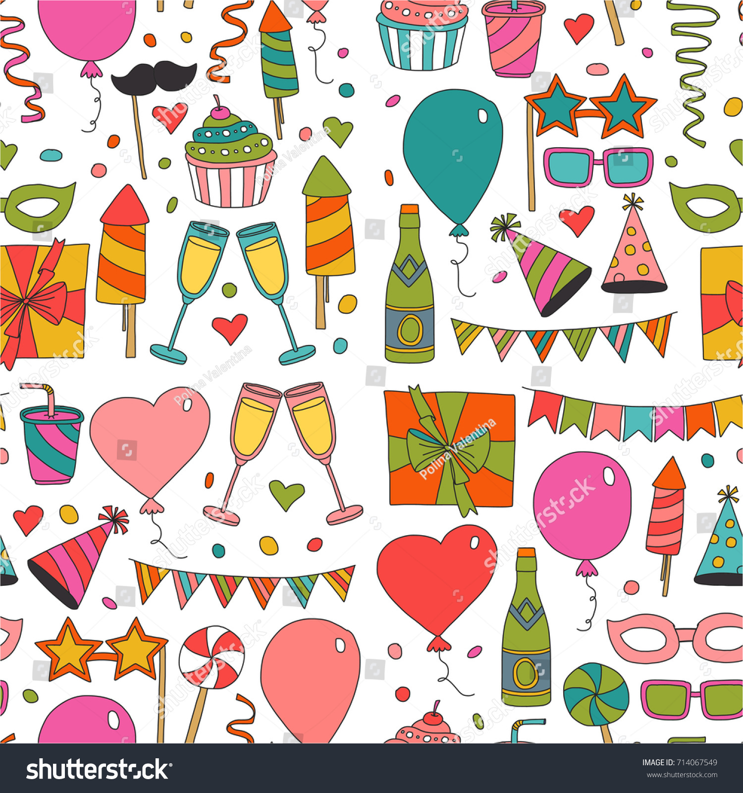 Happy Birthday Card Template Kids Drawing Vector de stock714067549 ...