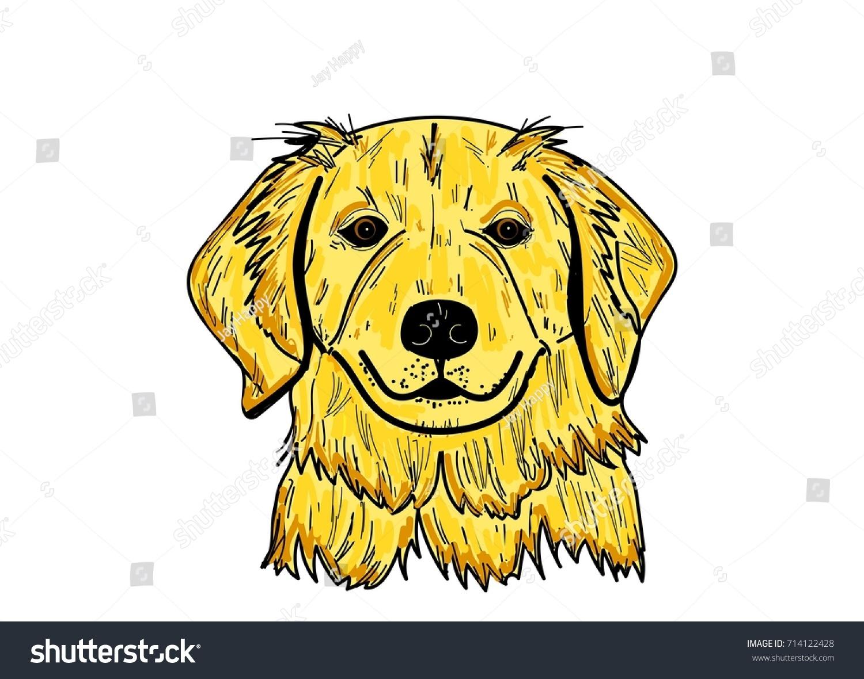 Golden Retriever Cartoon Dog Vector Puppy Stock Vector 714122428 ...
