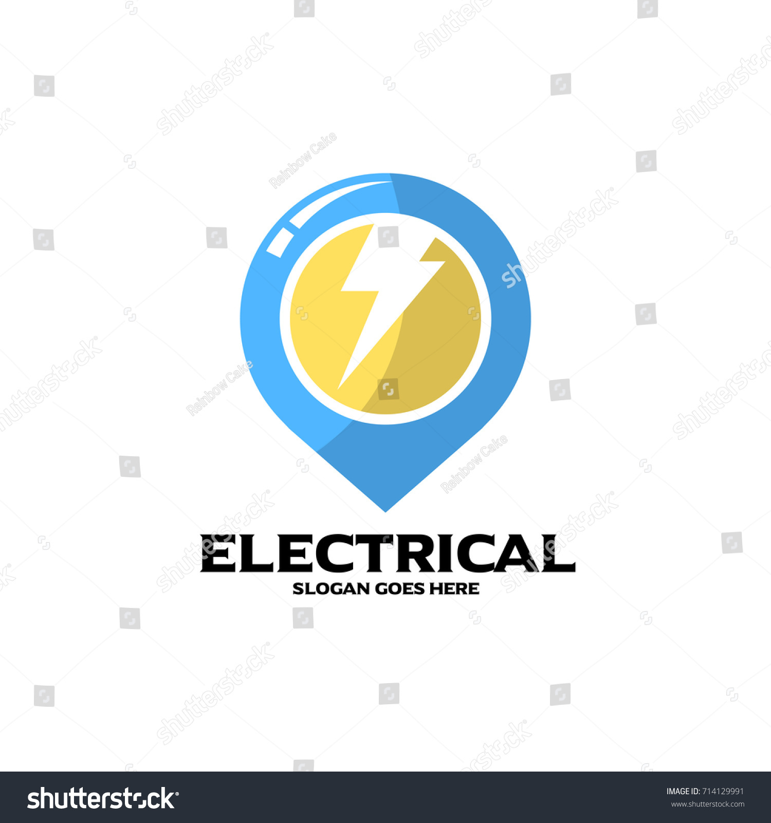 Electrical logo electrical mechanical business company stock electrical logo electrical and mechanical business company good for name card and branding vector magicingreecefo Images