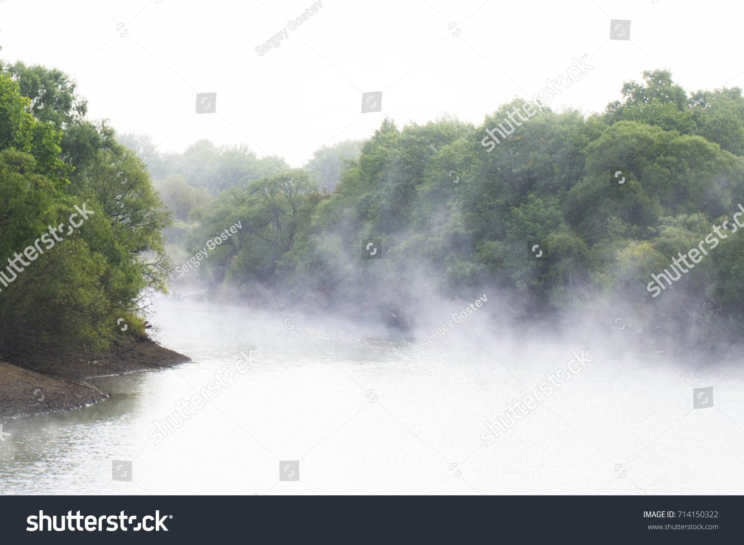 Fog on the river #714150322