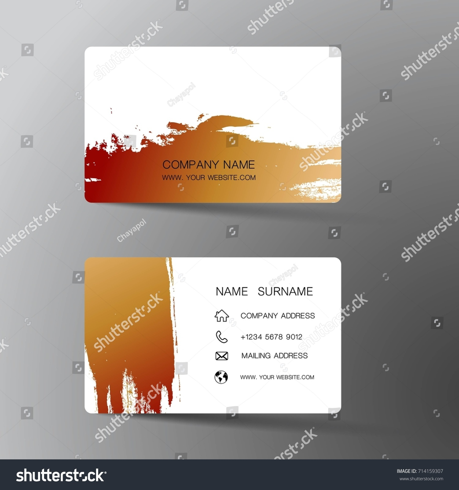 Modern Business Card Template Design Inspiration Stock Vector ...