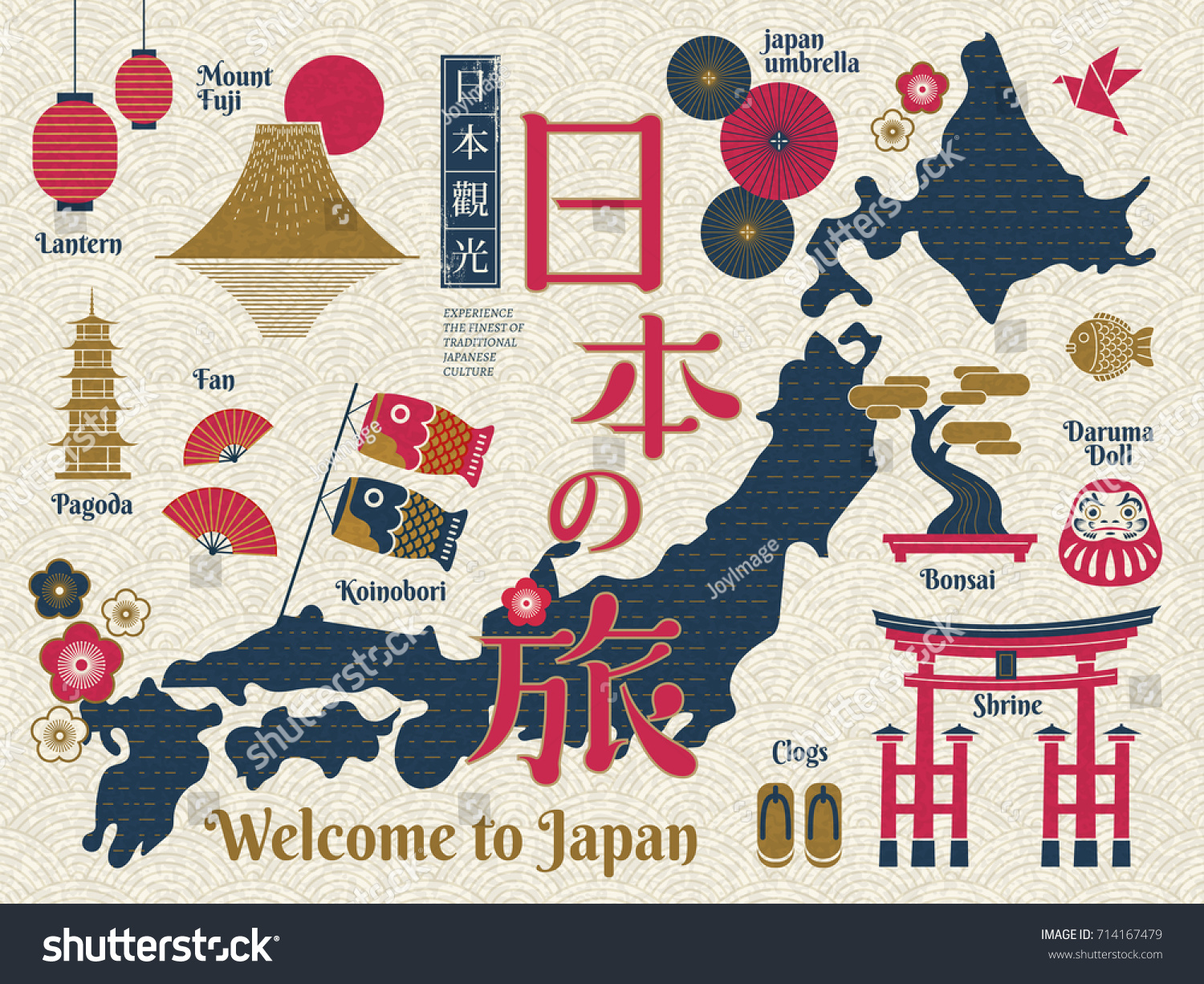 Traditional japan travel map famous culture vector de stock714167479 traditional japan travel map famous culture vector de stock714167479 shutterstock gumiabroncs Image collections