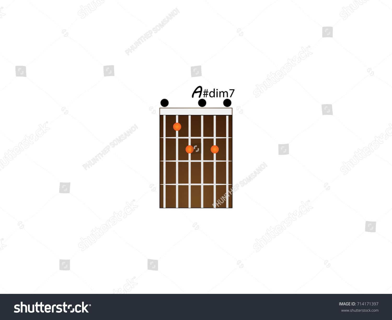 Peaches guitar chords gallery guitar chords examples dim 7 guitar chord images guitar chords examples guitar chords adim7 stock vector 714171397 shutterstock guitar hexwebz Images