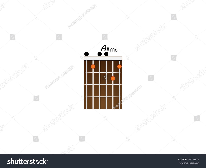 Guitar Chords Am 6 Stock Vector 714171439 Shutterstock