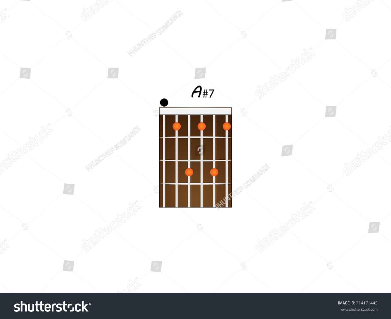 Guitar Chords A7 Stock Vector 714171445 Shutterstock