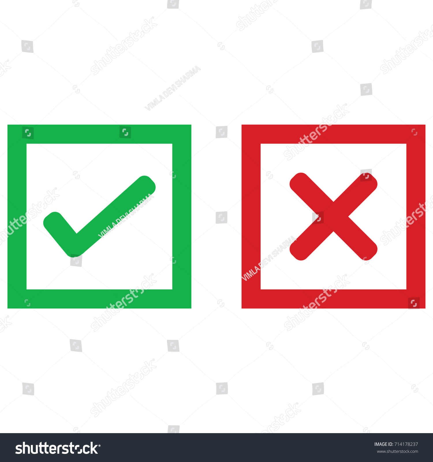 Yes No Check Mark Symbols Ez Canvas