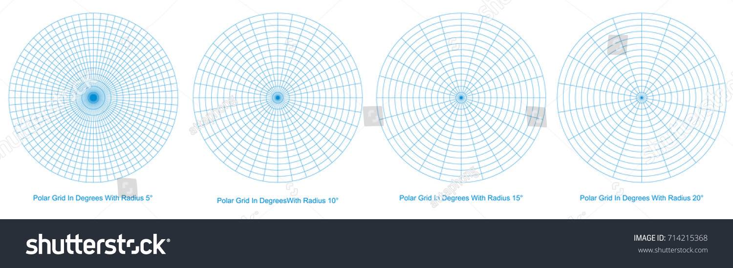 Blank blue polar grid degrees vector stock vector 714215368 blank blue polar grid in degrees vector protractor pie chart vector geenschuldenfo Image collections