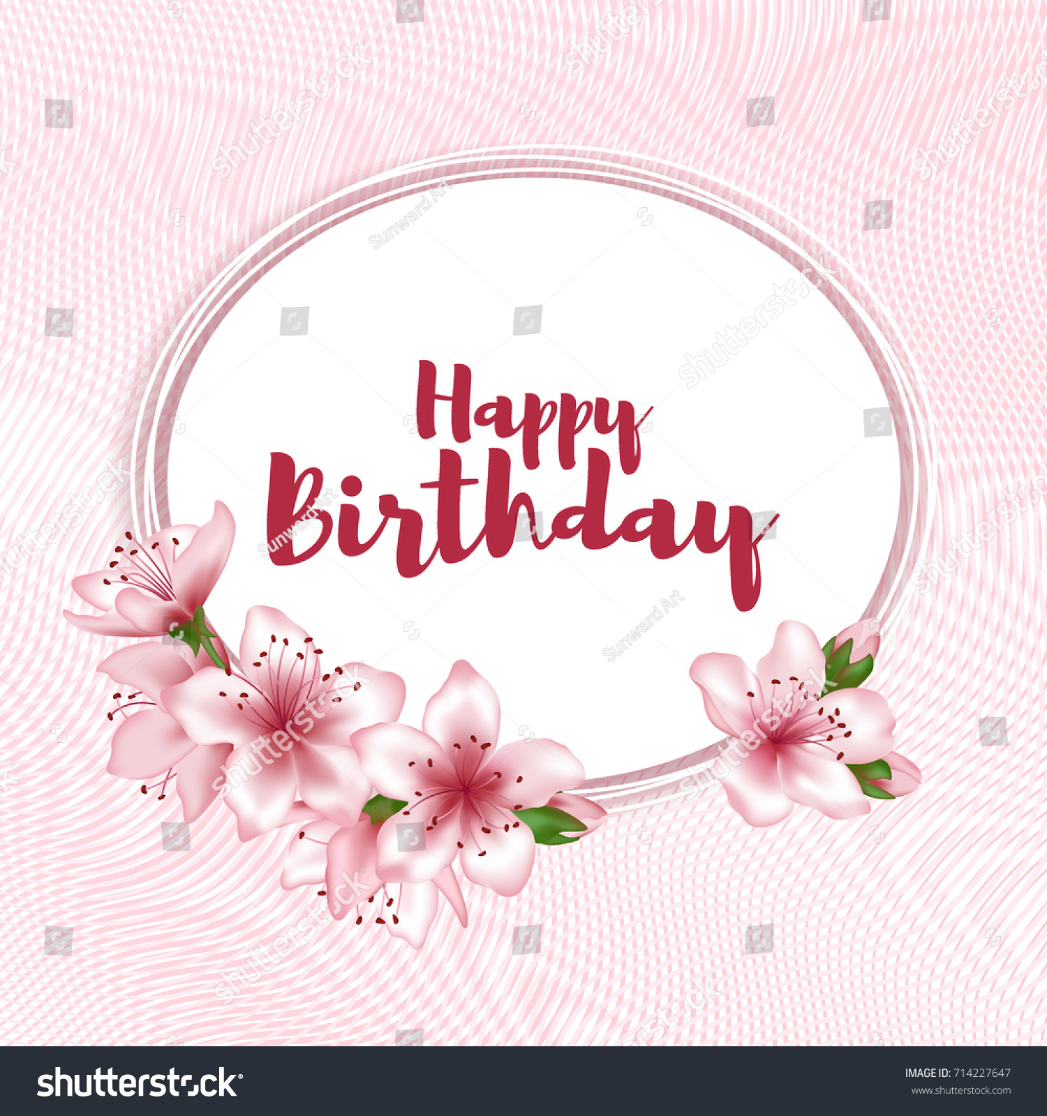Holiday oval border birthday banner poster with cherry flowers id 714227647 izmirmasajfo