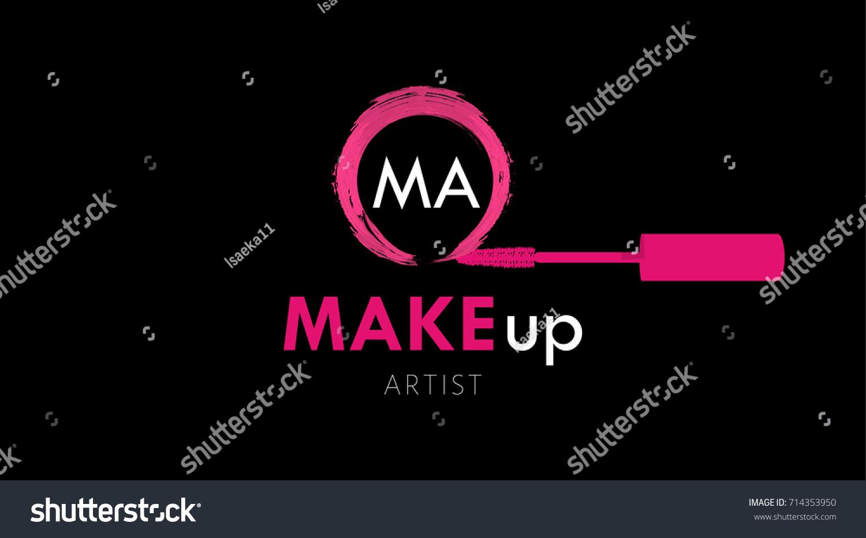Makeup Artist Business Card Logo Template Stock Vector 714353950 ...